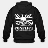Sweat zippé Conflict - The ungovernable force
