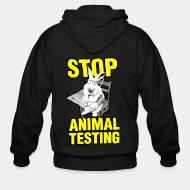 Sweat zippé Stop animal testing