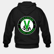 Hoodie à fermeture éclair Veganism against fascism