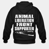 Hoodie à fermeture éclair Animal liberation front supporter