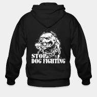 Hoodie à fermeture éclair Stop dog fighting