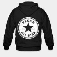 Sweat zippé Vegan all star. Defend animals