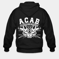 Hoodie à fermeture éclair A.C.A.B. All Cats Are Beautiful