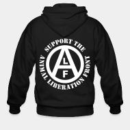 Hoodie à fermeture éclair Support the Animal Liberation Front (ALF)