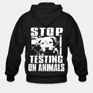 Sweat zippé Stop testing on animals