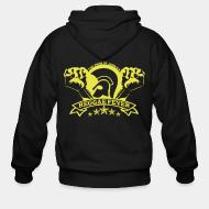 Hoodie à fermeture éclair The pride of Jamaica reggae fever