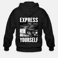 Hoodie à fermeture éclair Express yourself