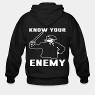 Hoodie à fermeture éclair Know your enemy