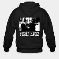 Hoodie à fermeture éclair Fight back!
