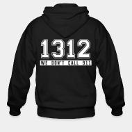 Hoodie à fermeture éclair 1312 we don't call 911