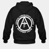 Sweat zippé ALF Animal Liberation Front support crew