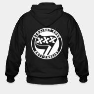 Hoodie à fermeture éclair Straight edge anti-fascist