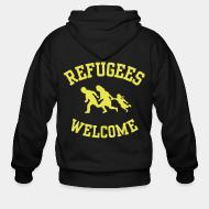 Hoodie à fermeture éclair Refugees welcome