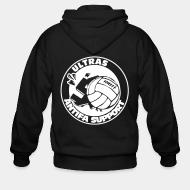 Hoodie à fermeture éclair Ultras antifa support