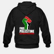 Hoodie à fermeture éclair Free palestine end israeli occupation