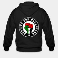 Sweat zippé Justice for palestine