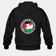 Hoodie à fermeture éclair Freedom for palestine