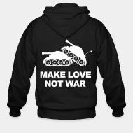 Hoodie à fermeture éclair Make love not war