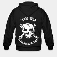 Hoodie à fermeture éclair Class war by all means necessary