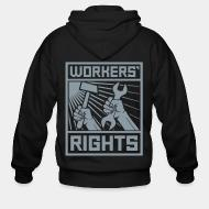 Hoodie à fermeture éclair Workers' rights