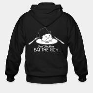 Hoodie à fermeture éclair Eat the rich feed the poor