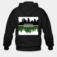 Hoodie à fermeture éclair The world without us