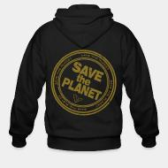 Hoodie à fermeture éclair Save the planet