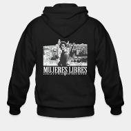 Hoodie à fermeture éclair Mujeres libres anarcha-feminist