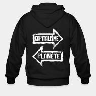 Sweat zippé Capitalisme / planète