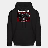 Hoodie sweatshirt Discharge - disensitise: (vb) deny - remove - destroy