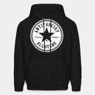 Hoodie sweatshirt Antifascist allstars - freedom fighters