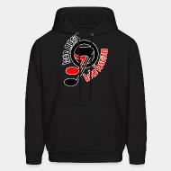 Sweat (Hoodie) Love music hate fascism