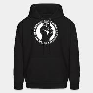 Hoodie sweatshirt Abolish capitalism by all means necessary
