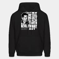 Sweat (Hoodie) In a time of universal deceit telling the truth is a revolutionary act (George Orwell)
