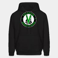 Hoodie sweatshirt Veganism against fascism
