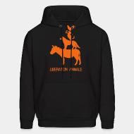 Hoodie sweatshirt Libération animale