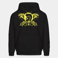 Hoodie sweatshirt The pride of Jamaica reggae fever