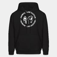 Hoodie sweatshirt Animal liberation - human liberation