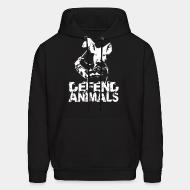 Hoodie sweatshirt Defend animals