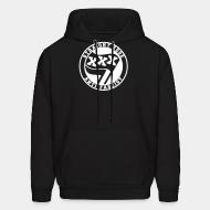 Hoodie sweatshirt Straight edge anti-fascist