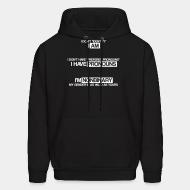 Sweat (Hoodie) I don't ''identify'' I am. I don't have ''prefered pronouns'' I have pronouns. I'm nonbinary, my gender is as valid as yours.