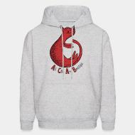 Hoodie sweatshirt ACAB - all cats are beautiful