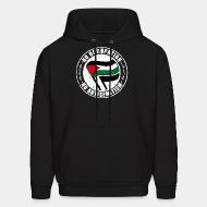 Hoodie sweatshirt No occupation, no antisemitism