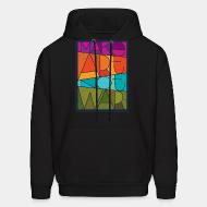 Hoodie sweatshirt Mark art not war