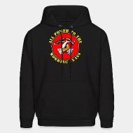 Hoodie sweatshirt All power to the working class