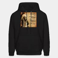 Hoodie sweatshirt This land does not belong to you, it is you who belong to this land