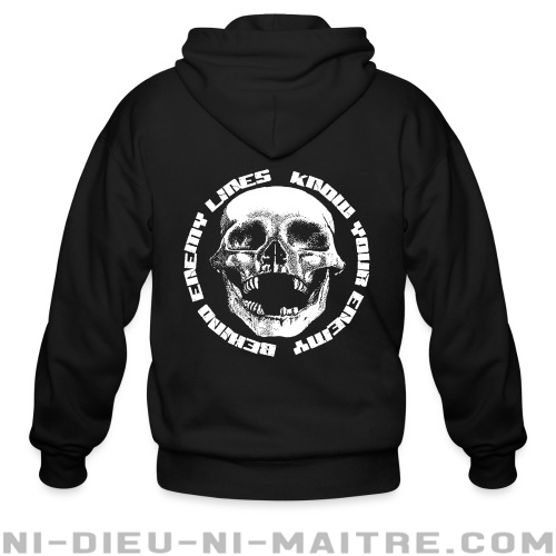 Behind Enemy Lines - Know your enemy - Sweat zippé Band Merch