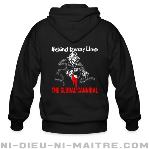 Behind Enemy Lines - The global cannibal - Sweat zippé Band Merch