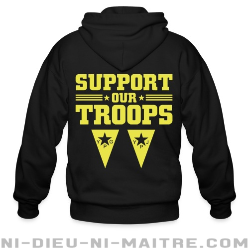 Support our troops! YPJ/YPG - Sweat zippé Rojava