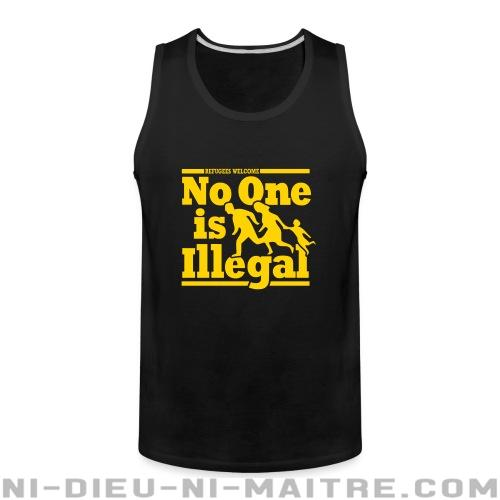 Refugees welcome - no one is illegal - Débardeur pour homme Anti-Fasciste